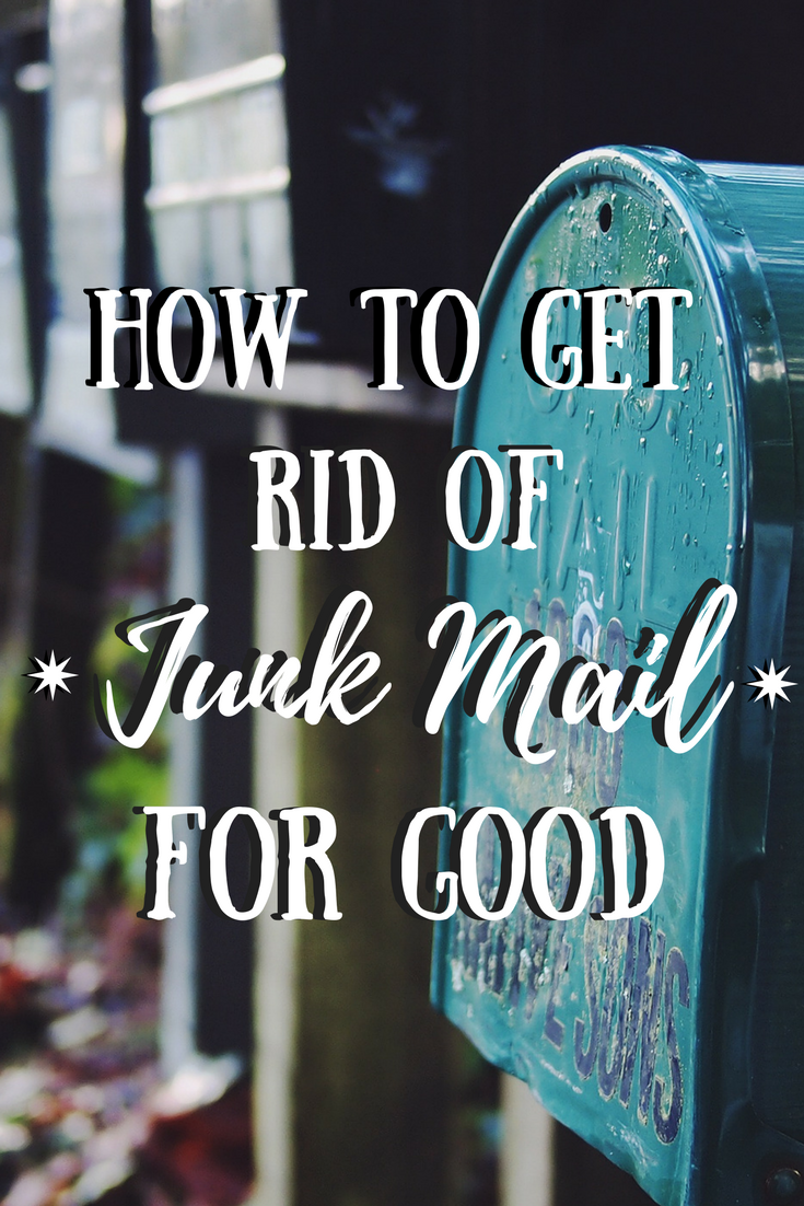 how to get rid of receiving junk mail